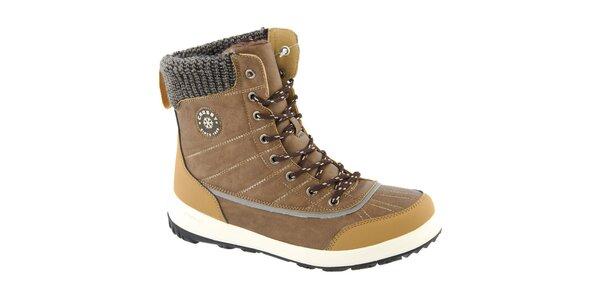 Dámské béžové zimní vysoké boty Crosby