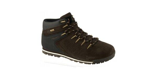 Pánské hnědé boty s podšívkou z vlny Crosby