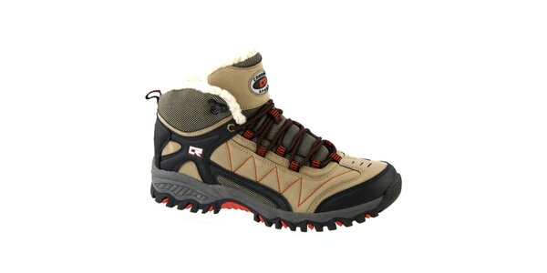 Pánské tmavě hnědé zimní šněrovací boty Crosby