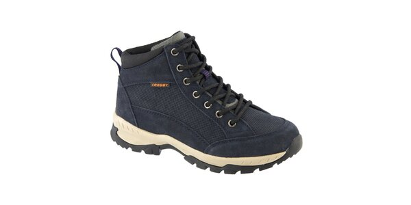 Dámské modré semišové trekové boty Crosby