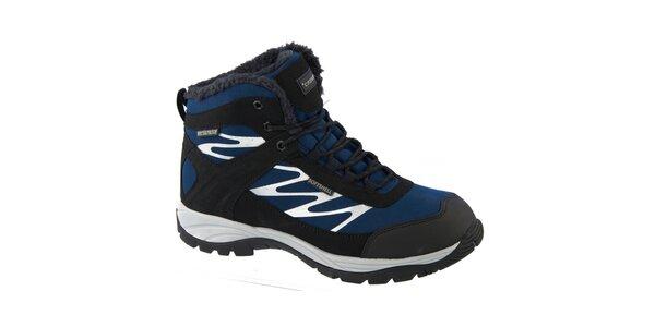 Pánské modré zimní boty Crosby s kožíškem