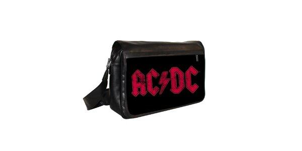 Černá messenger taška s motivem AC/DC Kothai