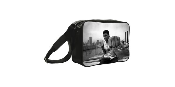 Černá taška s potiskem fotografie Kothai
