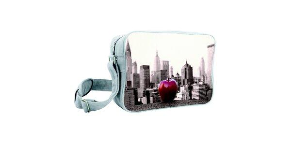 Šedá taška s potiskem velkého jablka Kothai