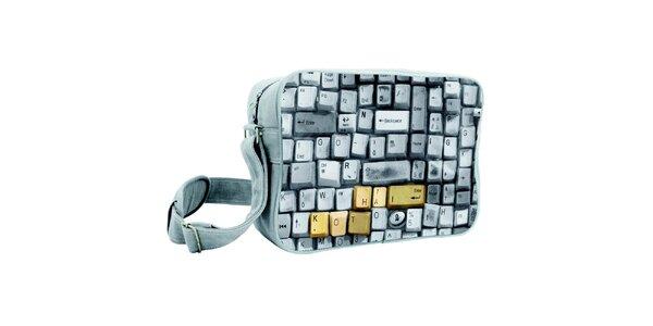 Šedá taška s klávesnicí Kothai