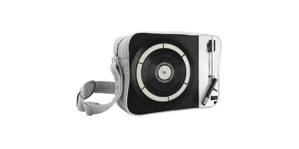 Černá taška s gramofonem Kothai