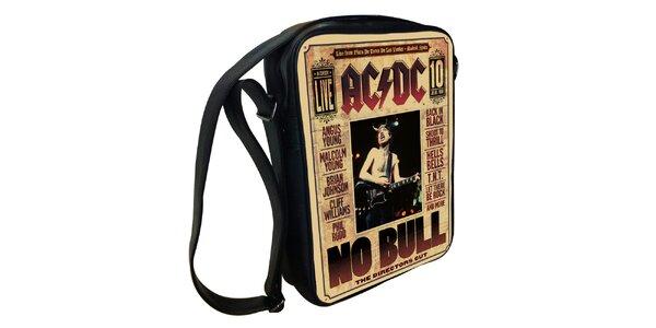 Černá taška přes rameno s motivem AC/DC Kothai