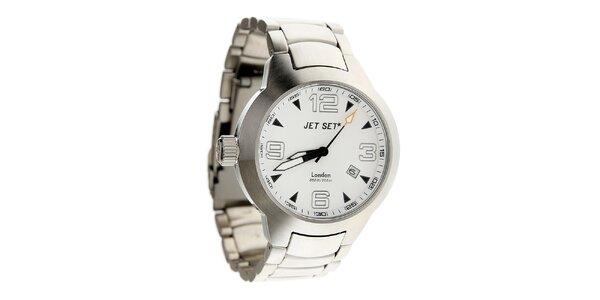 Ocelové hodinky Jet Set s bílým ciferníkem