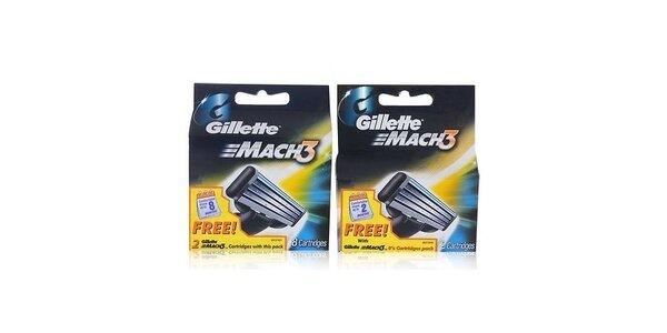 Gillette Mach3 Turbo 8+2 náhradní hlavice