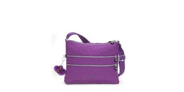 Dámská purpurová taštička Kipling s ozdobnými zipy