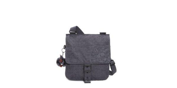 Temně šedivá kabelka s přezkou Kipling
