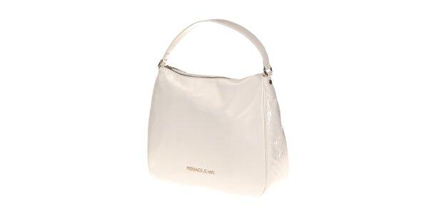 Dámská bílá lesklá kabelka Versace Jeans