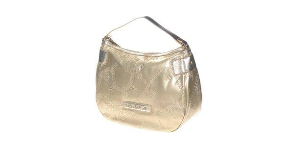 Dámská zlatá kabelka s reliéfním povrchem Versace Jeans