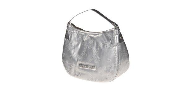 Dámská stříbrná kabelka s reliéfním povrchem Versace Jeans
