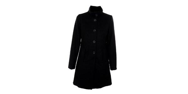 Dámský černý jednořadý kabát Straboski