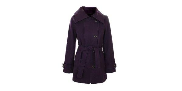 Dámský fialový kabát Straboski