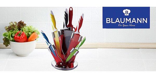 Barevné nože Blaumann v otočném stojanu