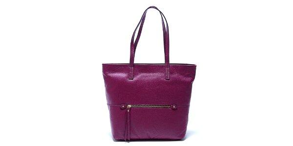 Elegantní fialová kožená kabelka Renata Corsi