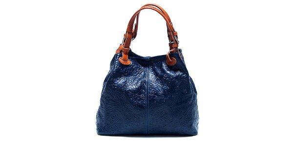 Dámská tmavě modrá kabelka se vzorem Renata Corsi