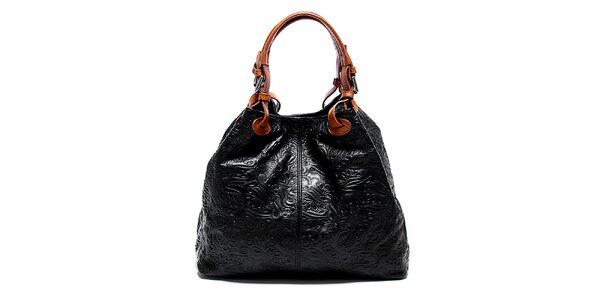 Dámská černá kabelka se vzorem Renata Corsi