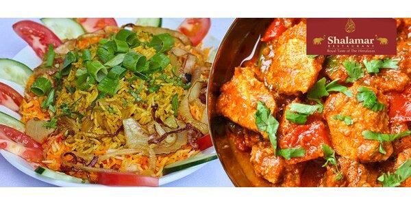 Výtečné 3chodové menu pro dva v restauraci Shalamar