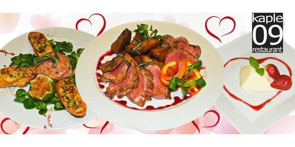 Valentýnské menu o 3 chodech v Kapli 09