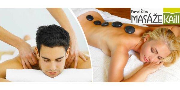 Relaxační masáž dle vašeho vlastního výběru - 75 minut odpočinku
