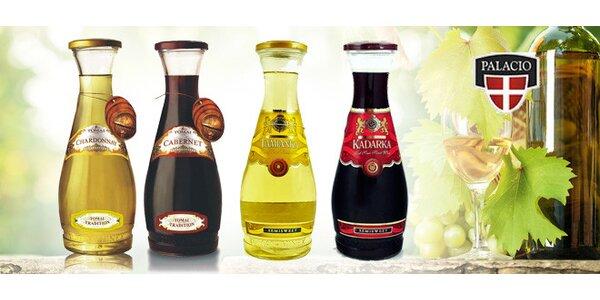 Moldavská vína Tomai v šesti karafách