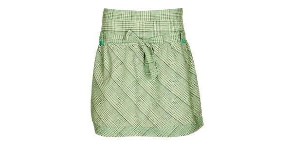 Dámská zeleno-šedá károvaná sukně Loap
