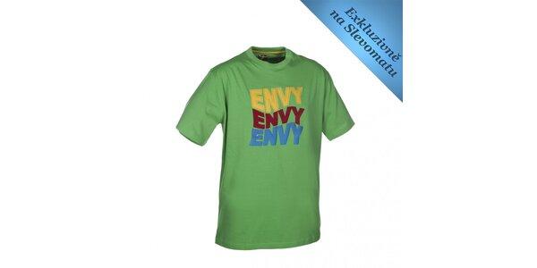 Pánské zelené tričko s barevným potiskem Envy