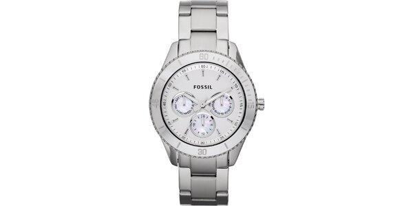 Dámské stříbrné hodinky Fossil