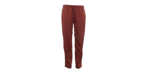 Dámské oranžově vzorované kalhoty Tantra