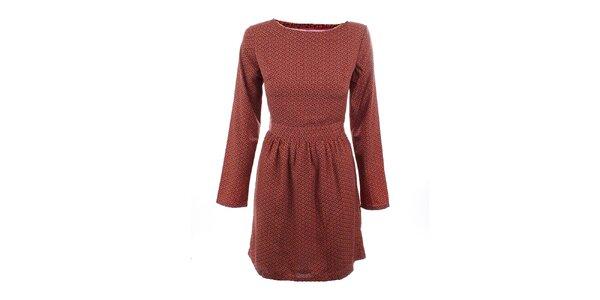 Dámské fialovo-vínové šaty s jemným vzorkem Tantra