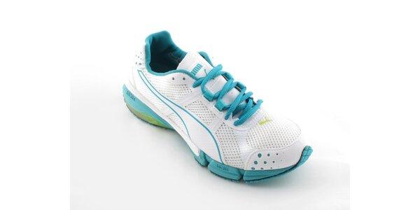 Dámské bílé běžecké boty Puma s tyryksovými detaily
