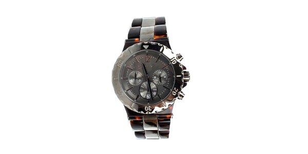 Unisexové hodinky Michael Kors v hnědé barvě