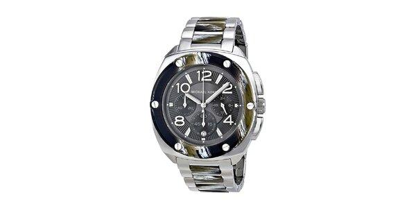 Dámské hodinky s chronografem a datumovkou ve stříbrném provedení Michael Kors