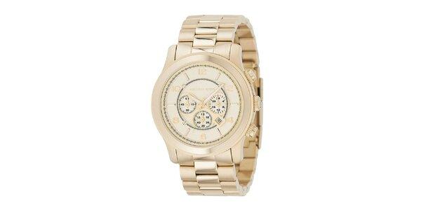 Pánské analogové hodinky s chronografem ve zlaté barvě Michael Kors