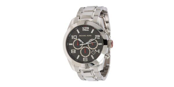 Pánské stříbrně tónované hodinky s chronografem Michael Kors