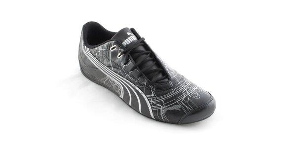 Pánské černé tenisky Puma se stříbrným potiskem