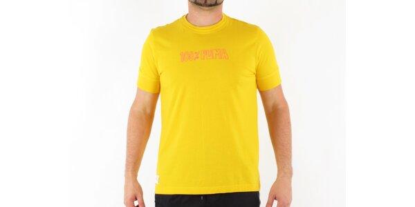 Pánské žluté tričko Puma