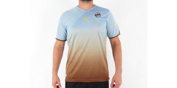 Pánské modro-hnědé tričko Puma Africa