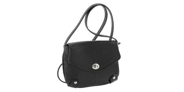 Dámská černá kožená taška s otočným zámečkem Classe Regina