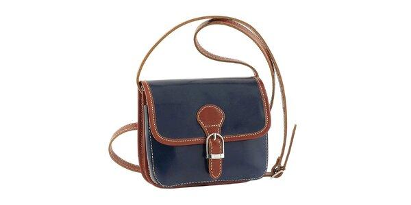 Dámská modrá kabelka s patentkovým zapínám Classe Regina