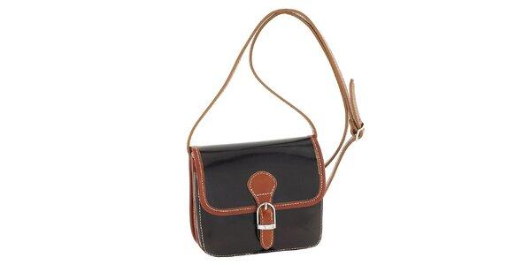Dámská tmavě hnědá kabelka s patentkovým zapínám Classe Regina