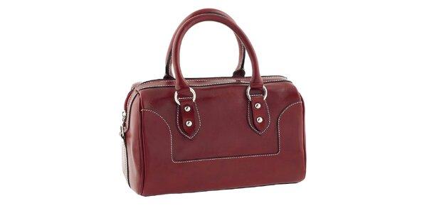 Dámská červená kufříková kabelka Classe Regina