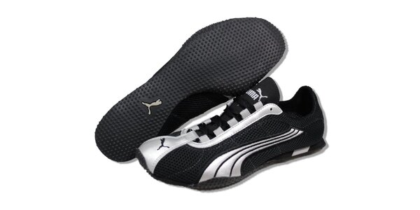 Dámské černé běžecké boty Puma se stříbrnými detaily