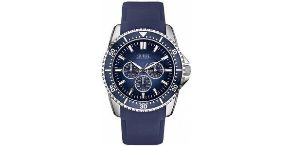 Pánské sportovní modré hodinky Guess
