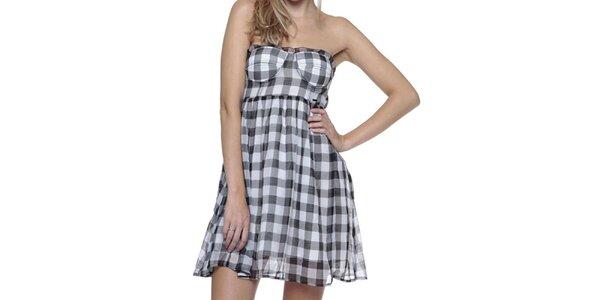 Dámské šedé kostkované šaty Guess