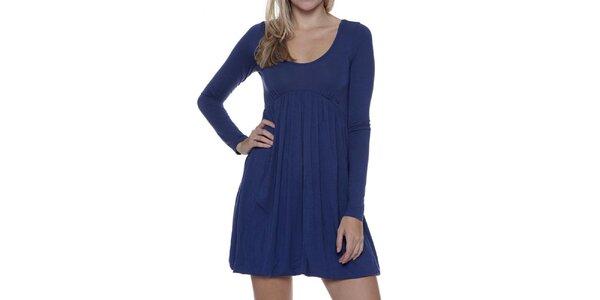 Dámské modré šaty s dlouhým rukávem Guess