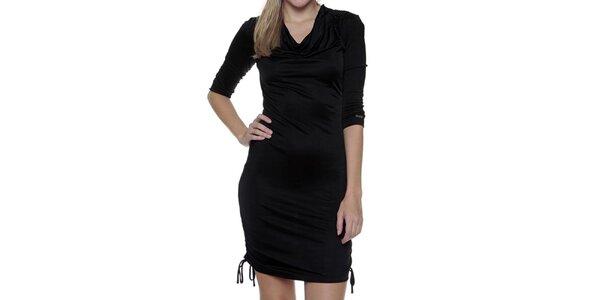 Dámské černé šaty s nastavitelným spodním lemem Guess